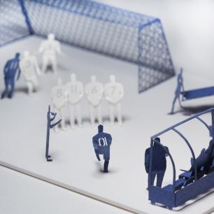 脚球 纸艺模型 7 | 多次获得日本优良设计大奖