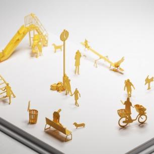 公园 纸艺模型 17 | 多次获得日本优良设计大奖