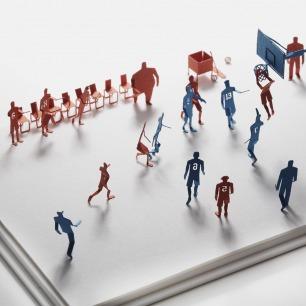 篮球赛 纸艺模型 38 | 多次获得日本优良设计大奖