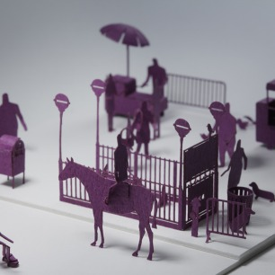 纽约街头 纸艺模型 6 | 多次获得日本优良设计大奖