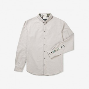 I LOVE UGLY.  Ivory Oxford Formal Shirt