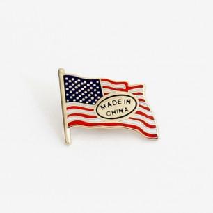 Dependence Pin 新版本美国国旗珐琅襟针