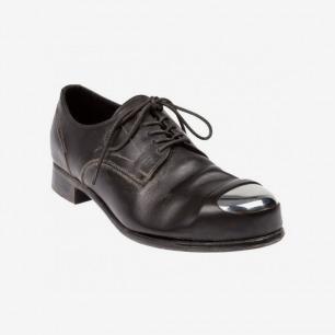 Mihara Yasuhiro深灰色金属头皮鞋