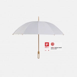 白色手工竹雨伞 轻盈坚固 | 荣获IF及红点奖 大小可选