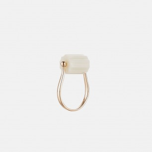 罡风戒指(WYF(YS)-1) | 925银+罗甸玉 独特设计