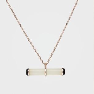 罡风套链WYF(YS)-9 | 925银+罗甸玉+黑玛瑙