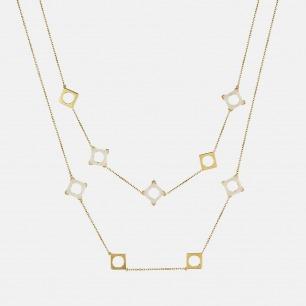 朝晖套链 925银/罗甸玉 | 珠宝与玉石的精致嵌合