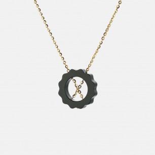 朝晖套链(WYF(YS)-17) | 925银+罗甸玉 独特设计