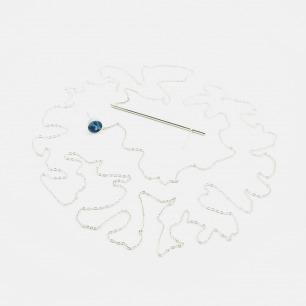 东方美学耳环项链 | 精致典雅的青花古瓷饰品
