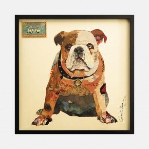 斗牛犬-手工拼贴装饰画 | 每幅都是独一无二的艺术品