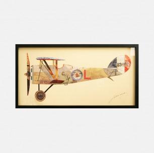 飞机#1 手工拼贴装饰画 | 每幅都是独一无二的艺术品