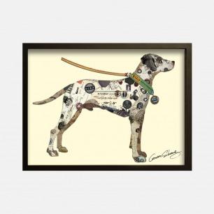 斑点狗-手工拼贴装饰画 | 每幅都是独一无二的艺术品
