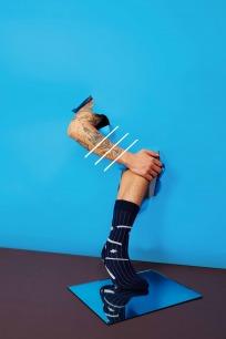 春夏流星袜子   搭配西装 牙签条纹底