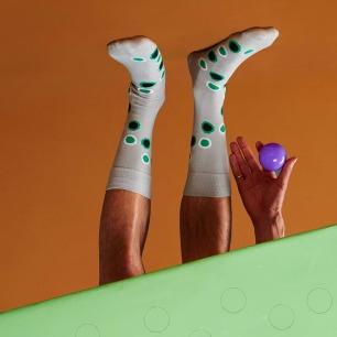 彩圈波点袜子   原创个性图案 与众不同