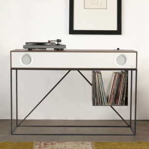SYMBOL STEREO CONSOLE IS PART FURNITURE, PART AUDIO COMPONENT