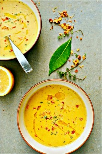 Creamy Zucchini, Walnut and Thyme Soup