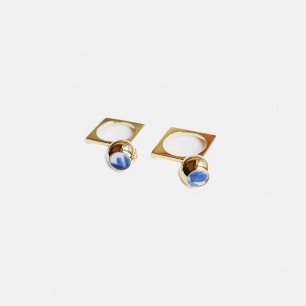 东方美学戒指-圆球 | 精致典雅的青花古瓷饰品