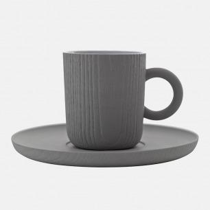 MU木纹浓缩咖啡杯-带托盘 | 台湾简约家居设计品牌