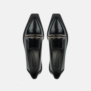 几何系列女式乐福鞋   小众独立原创设计师品牌