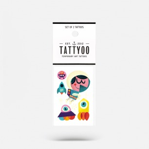 太空儿童纹身贴纸(2套四张)