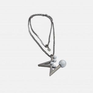 多颗珍珠半星项链(钨金) | 独特的星星造型