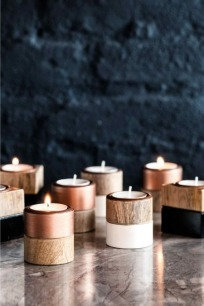 bougeoirs bois - H&M Home