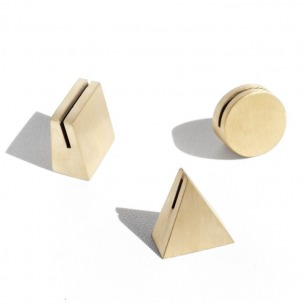 Solid brass geo stands
