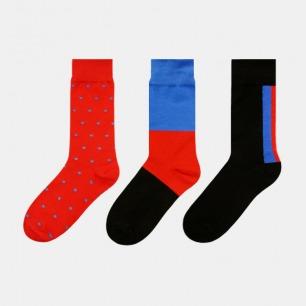 红蓝混搭袜子礼盒二 | 男女同款 37-43均码