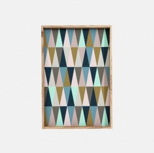 长方形几何花纹托盘 | 丹麦家居品牌 浓浓北欧风情