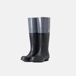 拼接拉链高筒雨靴  | 天然环保橡胶 纯手工制造