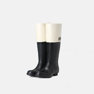拼接拉链高筒雨靴   天然环保橡胶 纯手工制造