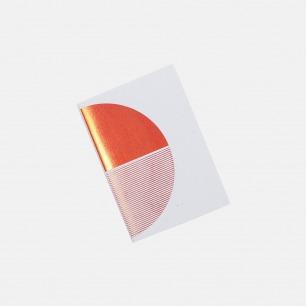 几何拼图笔记本 灰+橙   英式简约风格设计