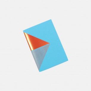 几何拼图笔记本 浅蓝+橙 | 英式简约风格设计