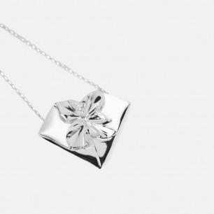 925银心形折纸项链 | ,100%纯手工制作