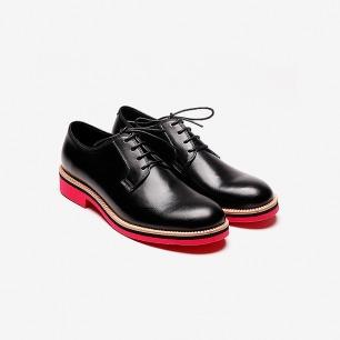 KKtP 撞色系带皮鞋