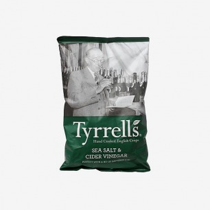 TYRRELLS British imports of salt and vinegar chips 150g