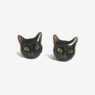 手工独立品牌Faz-jewelry 猫猫耳钉 耳环 埃及法老咪