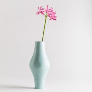 秋瓷花瓶 清透骨瓷打造 | 优雅线条 古典优雅粉绿款