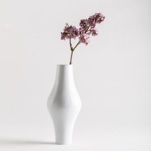 秋瓷花瓶 清透骨瓷打造 | 优雅线条 古典优雅粉兰款