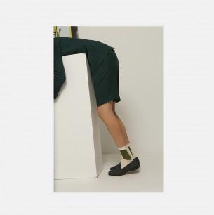 动态雕塑图案 白绿男女长袜   原创个性图案 与众不同