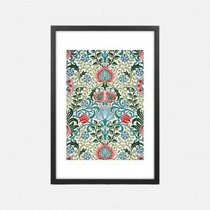 植物图案装饰画-波斯壁纸  | 英国William Morris所绘