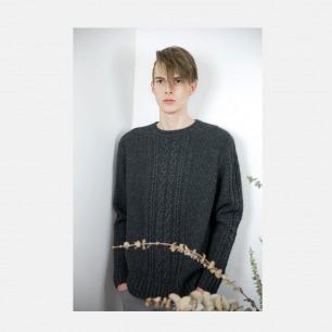 100%羊绒5针阿兰花样编织套衫