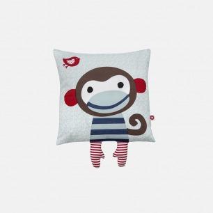 丹麦儿童设计 蓝色小猴有机抱枕