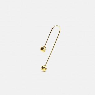 星星折纸耳坠耳饰 18k黄金 | 925银镀黄金 别致而精美