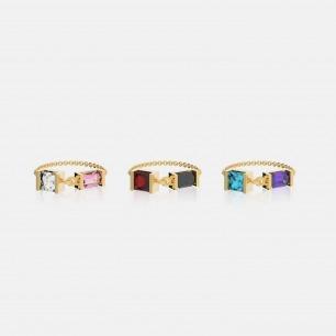 时尚多色锆石链条戒指   Ruby Wonder系列首饰