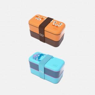 法国原创午餐盒   双层分格便当盒可微波炉加热【印花款】