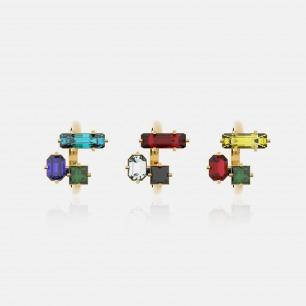 时尚异形三锆石戒指   Ruby Wonder系列首饰