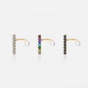多色锆石时尚异形珍珠戒指   Ruby Wonder系列首饰