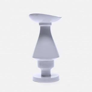 白色几何陶瓷花瓶V61 | 手工打造 精致富有艺术感