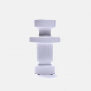 白色几何陶瓷花瓶V7 | 手工打造 精致富有艺术感